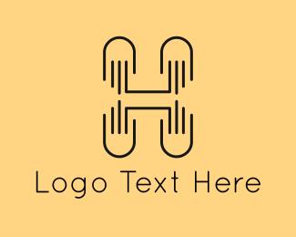 Letter H - Minimalist Letter H logo design