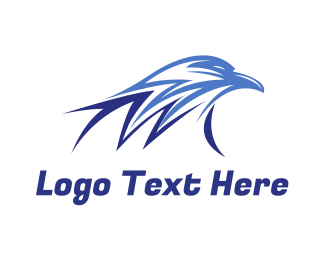 Postal Service - Blue Thunder Eagle logo design