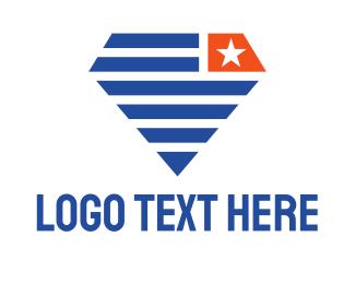 Politician - Diamond Flag logo design