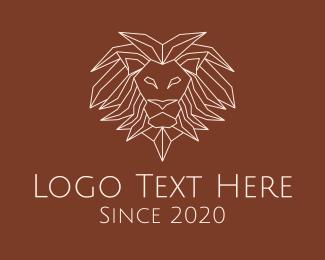 Savanna - Wild Lion Monoline logo design