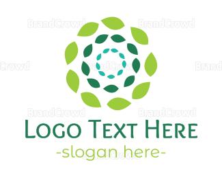 Conditioner - Green Flower Leaves logo design