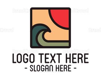 Water - Modern Sea Waves logo design