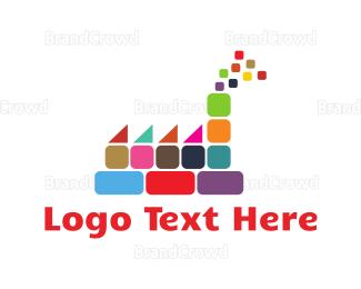 Exhibition - Colorful Factory logo design