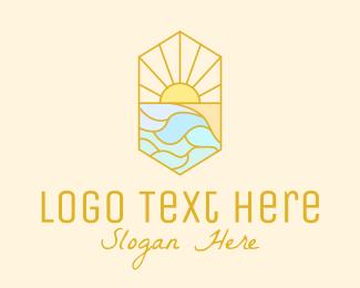 Morning - Morning Sun Stained Glass logo design