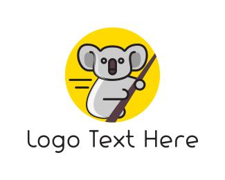 Adorable - Eucalyptus & Koala logo design