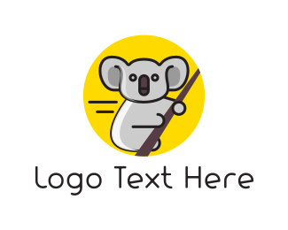 Australian - Eucalyptus & Koala logo design