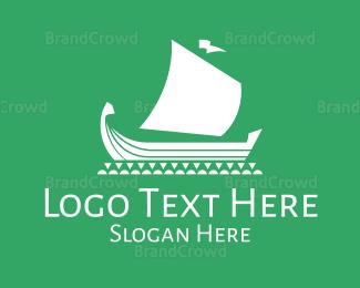 Traditional - Traditional Viking Boat logo design