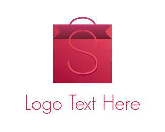 Shopify - Pink Bag logo design
