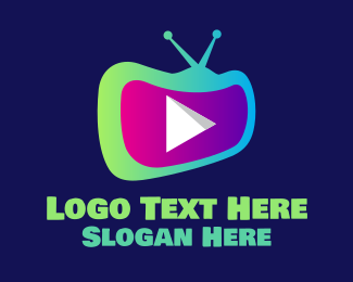 Streaming - YouTube Television Streaming Channel logo design