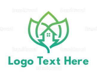 Environmental - Green Leaf Homes logo design