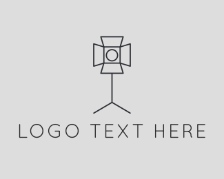 Stick - Photography Lighting Spotlight logo design