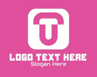 Twitter - T & U Monogram App logo design
