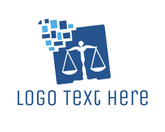 Law Firm - Digital Law Balance logo design