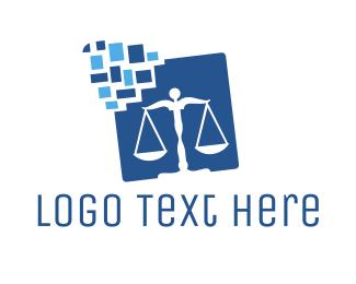 Judge - Law Balance logo design