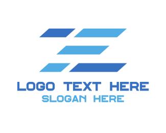 Stripe - Blue Stripe Z logo design