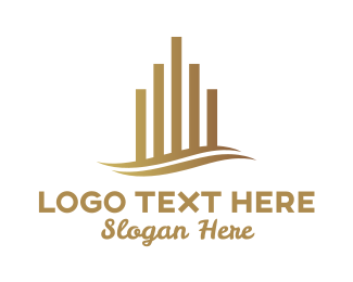 Upscale - Upmarket Building Property logo design