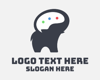 Animal Rehabilitation - Elephant Speech Bubble logo design