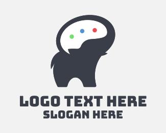 Speech Bubble - Elephant Speech Bubble logo design