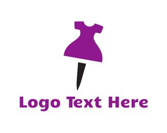 Dress Shop - Dress Pin logo design