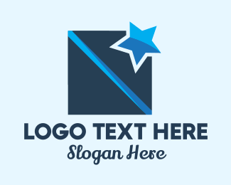 Present - Blue Star Box logo design