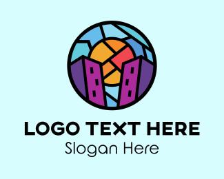Buildings - Urban Buildings Mosaic  logo design