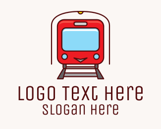 Toy Train - Subway Tunnel Train logo design