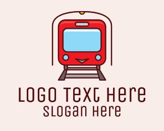 Train - Subway Tunnel Train logo design
