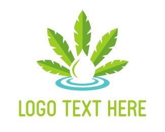 Ejuice - Cannabis Drop logo design