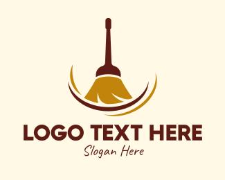 Sweeper - Sweeping Broom logo design