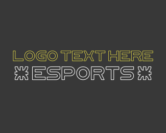 Type - Electronic Sports Font logo design