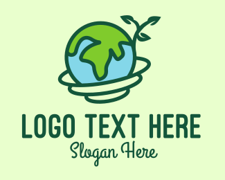 Earth - Global Nature Conservation logo design