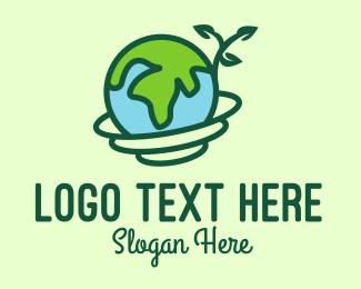World - Global Nature Conservation logo design