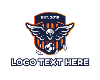 Ground - Soccer Eagle Sport Shield logo design