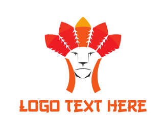 Chief - Tribal Feline logo design