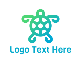 Tortoise - Abstract Green Turtle logo design