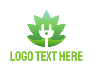 Plug In - Eco Electricity logo design