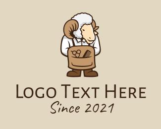 Sheep - Sheep Barbershop logo design