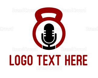 Radio - Fitness Radio logo design