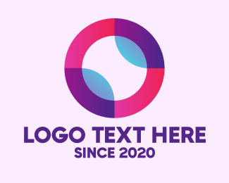 Colored - Colored Digital Circle logo design