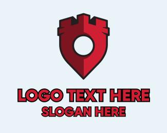 Minecraft - Castle Locator  logo design