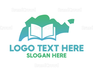 Book Store - Green Singapore Book logo design