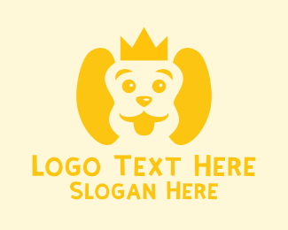 Fluffy - Cute Puppy Crown logo design