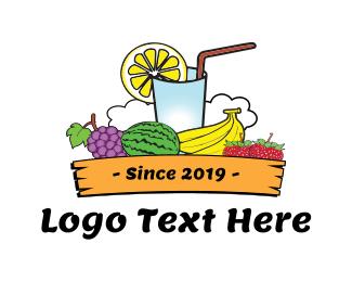 Strawberry - Tropical Juice logo design