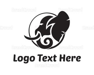 Fauna - Elephant Silhouette logo design