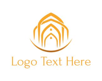 Gate - Arab Doors logo design