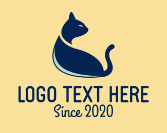 Pet Cat - Blue Pet Cat logo design