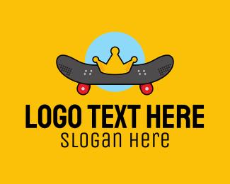Competition - Retro Skater Boy King logo design