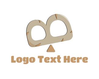 Balance - Seesaw Letter B logo design