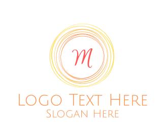 Warm - Summer Script Lettermark logo design