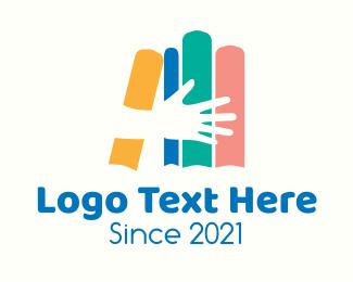 Online Learning - Multicolor Learning Books logo design